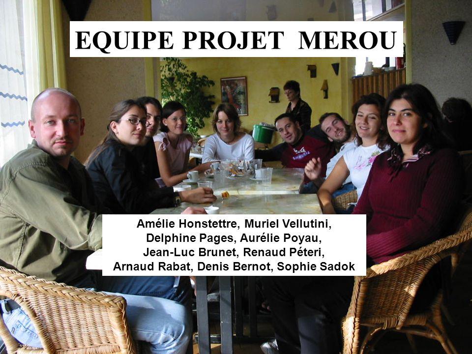 EQUIPE PROJET MEROU Amélie Honstettre, Muriel Vellutini, Delphine Pages, Aurélie Poyau, Jean-Luc Brunet, Renaud Péteri, Arnaud Rabat, Denis Bernot, So