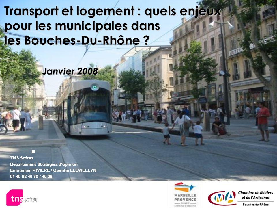 TNS Sofres Département Stratégies d'opinion Emmanuel RIVIERE / Quentin LLEWELLYN 01 40 92 46 30 / 45 28 48 MA 96 Transport et logement : quels enjeux