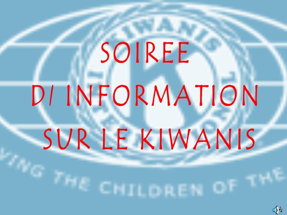 Le KIWANIS est un Club Service dont la base essentielle est constituée par le Club, groupe de personnes de bonnes mœurs, représentatives et responsables Les Kiwaniens poursuivent ensemble sous le signe de lamitié et de la tolérance leurs buts communs pour construire un monde meilleur