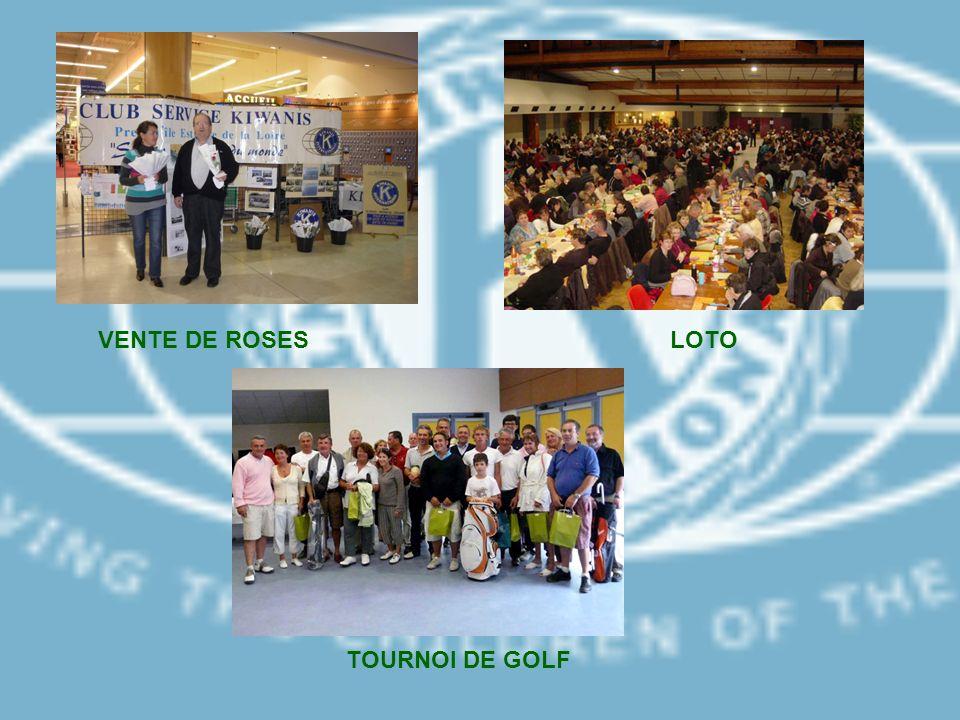 VENTE DE ROSESLOTO TOURNOI DE GOLF