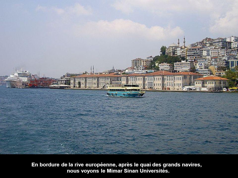 Encore une fois dans l'espace européen, la tour de Galata domine le paysage derrière le port de Karaköy.