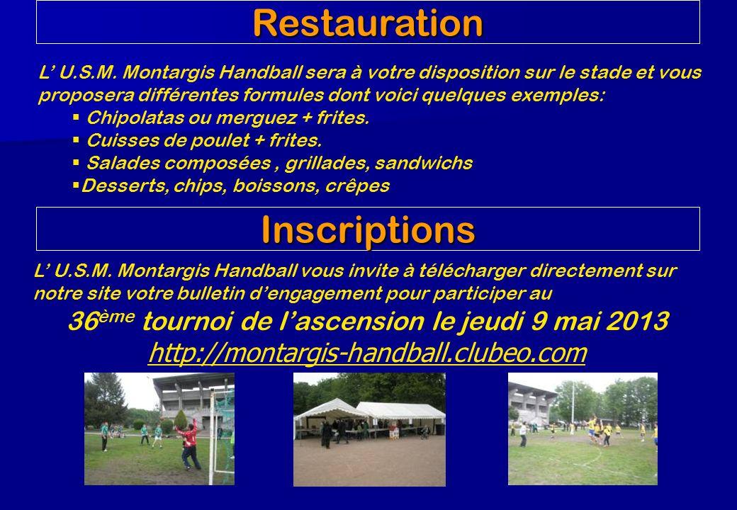 Restauration L U.S.M. Montargis Handball sera à votre disposition sur le stade et vous proposera différentes formules dont voici quelques exemples: Ch