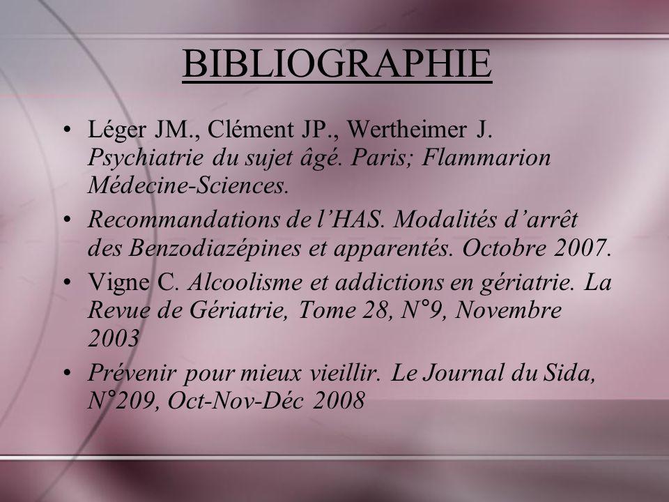 BIBLIOGRAPHIE Léger JM., Clément JP., Wertheimer J.