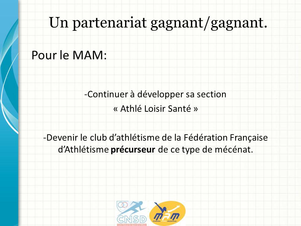 -Continuer à développer sa section « Athlé Loisir Santé » -Devenir le club dathlétisme de la Fédération Française dAthlétisme précurseur de ce type de