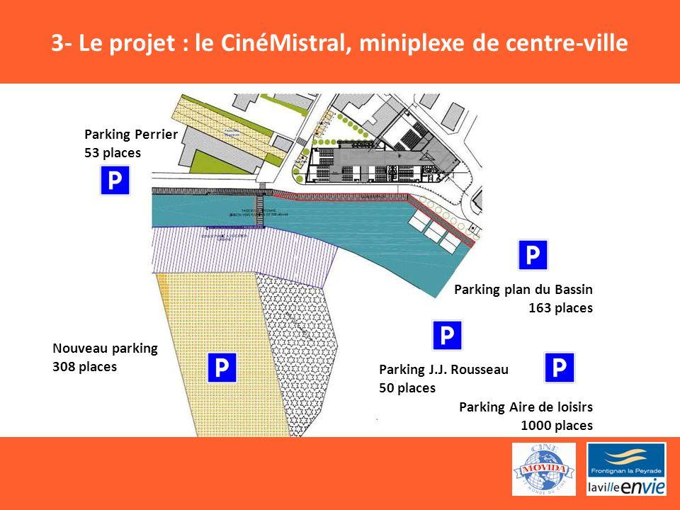 Parking Perrier 53 places Nouveau parking 308 places Parking plan du Bassin 163 places Parking J.J.