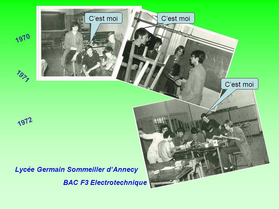 1970 1971 1972 Lycée Germain Sommeiller dAnnecy BAC F3 Electrotechnique Cest moi