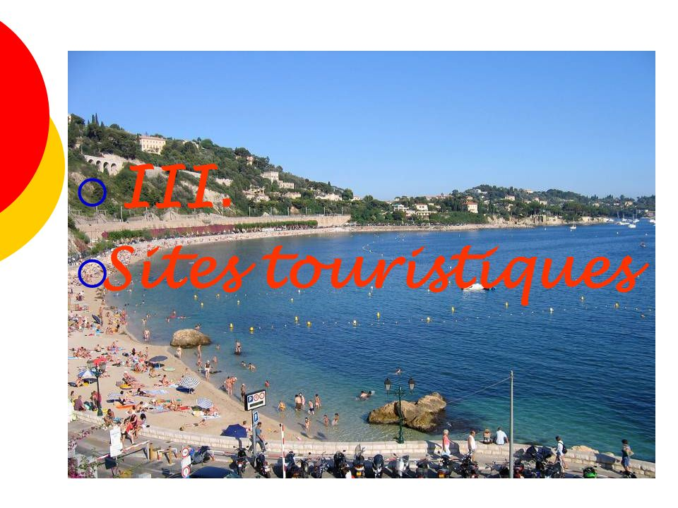 III. Sites touristiques