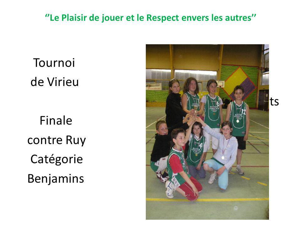 Tournoi de Virieu Gagnants Finale contre Ruy Catégorie Benjamins
