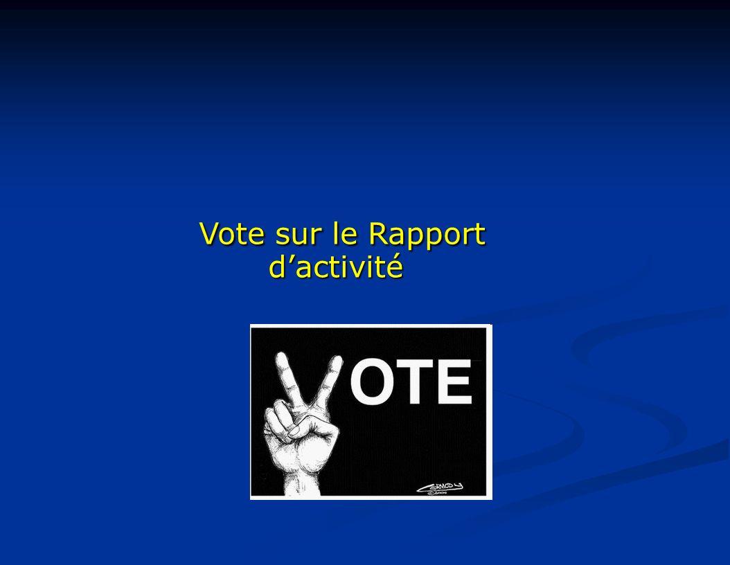 Vote sur le Rapport dactivité Vote sur le Rapport dactivité