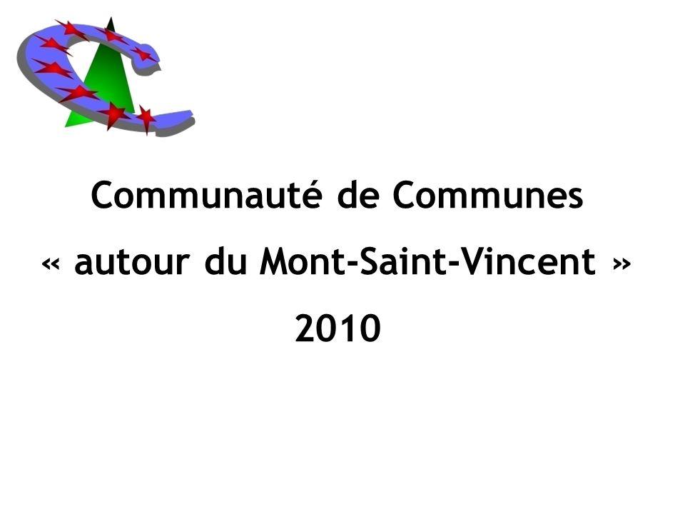 Communauté de Communes « autour du Mont-Saint-Vincent » 2010