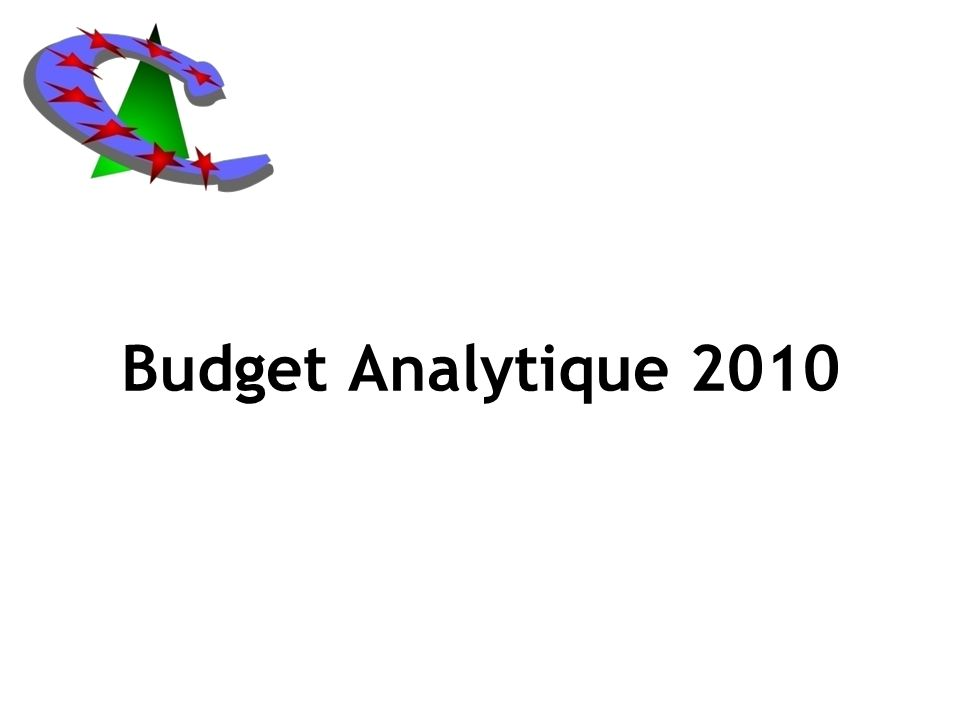Budget Analytique 2010