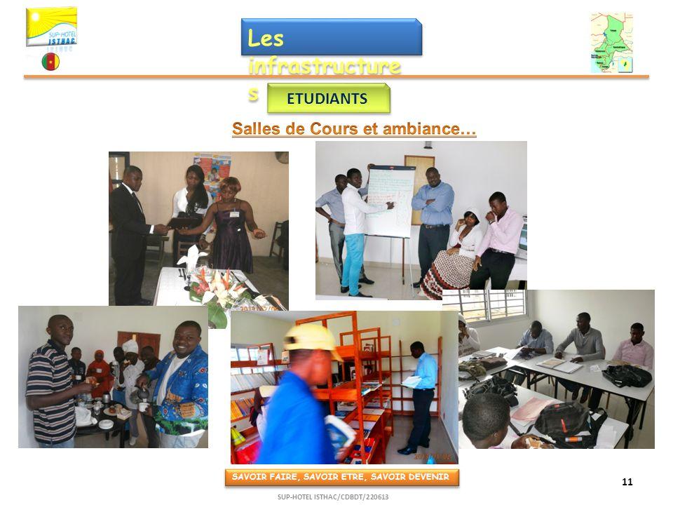 Les infrastructure s ETUDIANTS SAVOIR FAIRE, SAVOIR ETRE, SAVOIR DEVENIR 11 SUP-HOTEL ISTHAC/CDBDT/220613