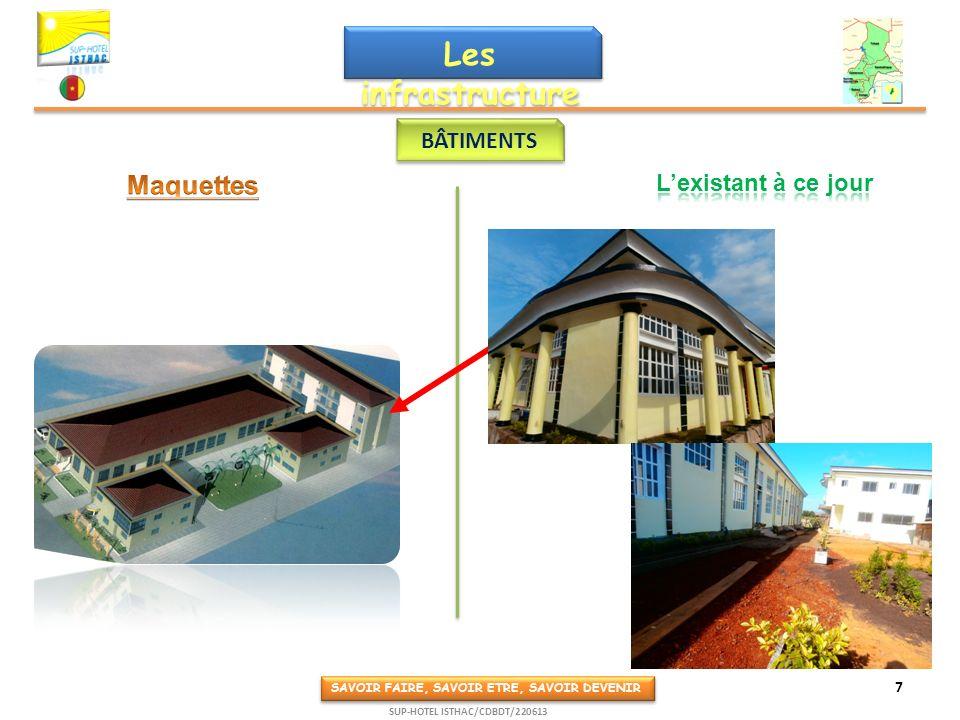 Les infrastructure s BÂTIMENTS SAVOIR FAIRE, SAVOIR ETRE, SAVOIR DEVENIR 7 SUP-HOTEL ISTHAC/CDBDT/220613