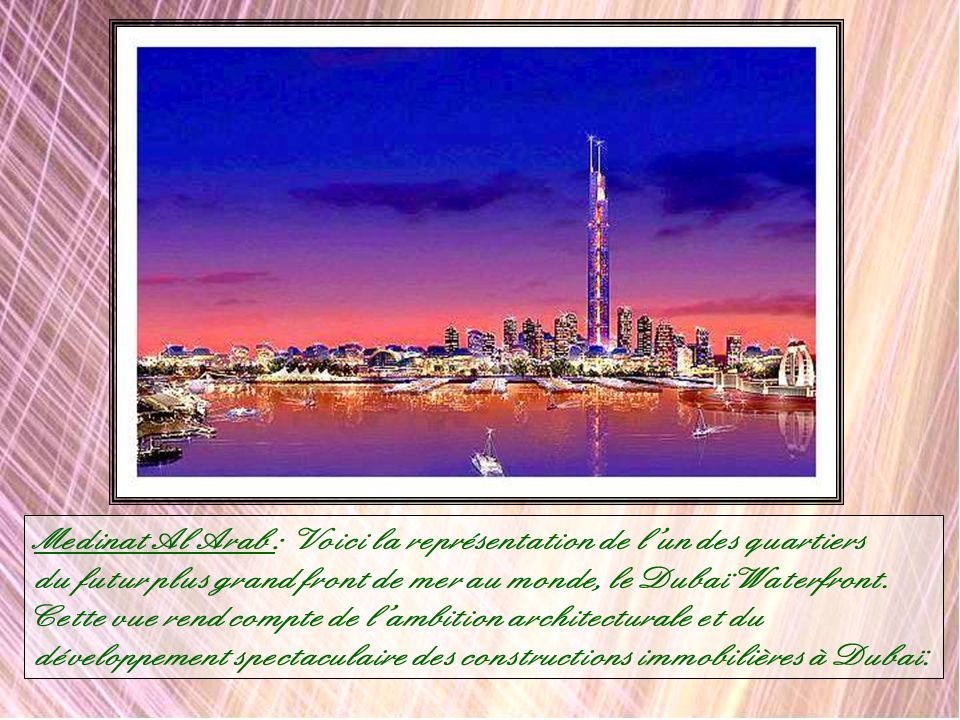 The Riviera est lun des dix quartiers principaux de Dubaï Waterfront. Il en existe 9 autres :Al Ras, Outer Corniche, Inner Corniche, the Peninsula, Ma