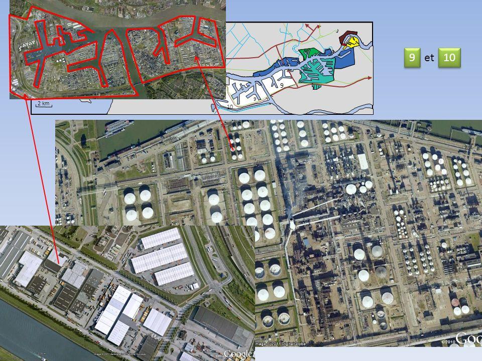 11 14 Nord Mer du Nord 2 km Nieuwe Waterweg 9 10 9 9 11 12 13 9 9 et 10