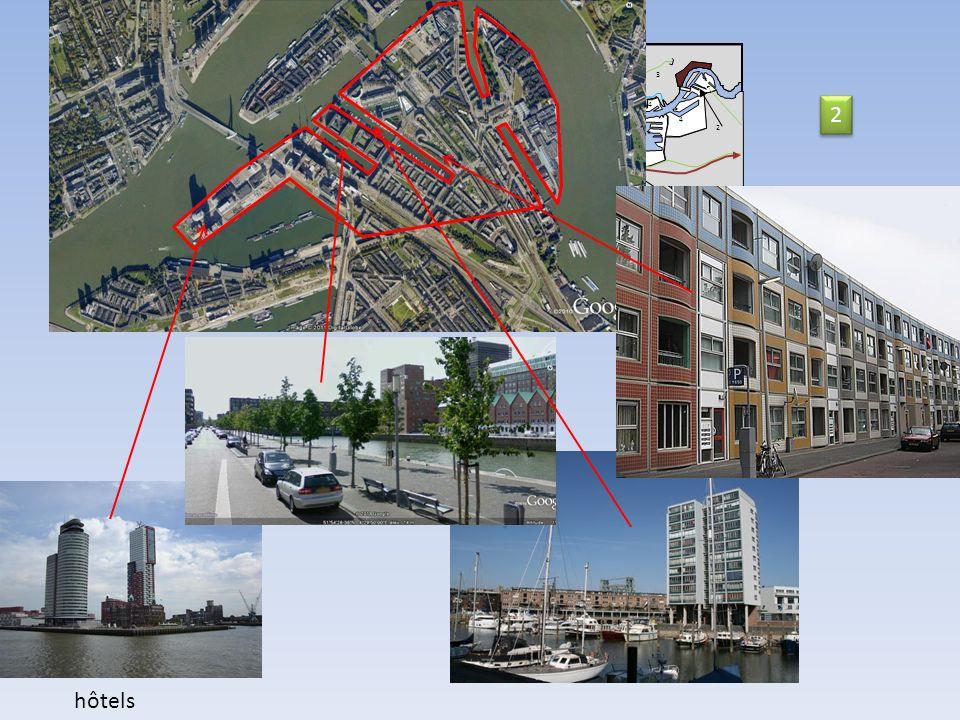 11 14 Nord Mer du Nord 2 km Nieuwe Waterweg 9 10 9 9 11 8 5 6 74 4 3 2 12 13 2 2 hôtels