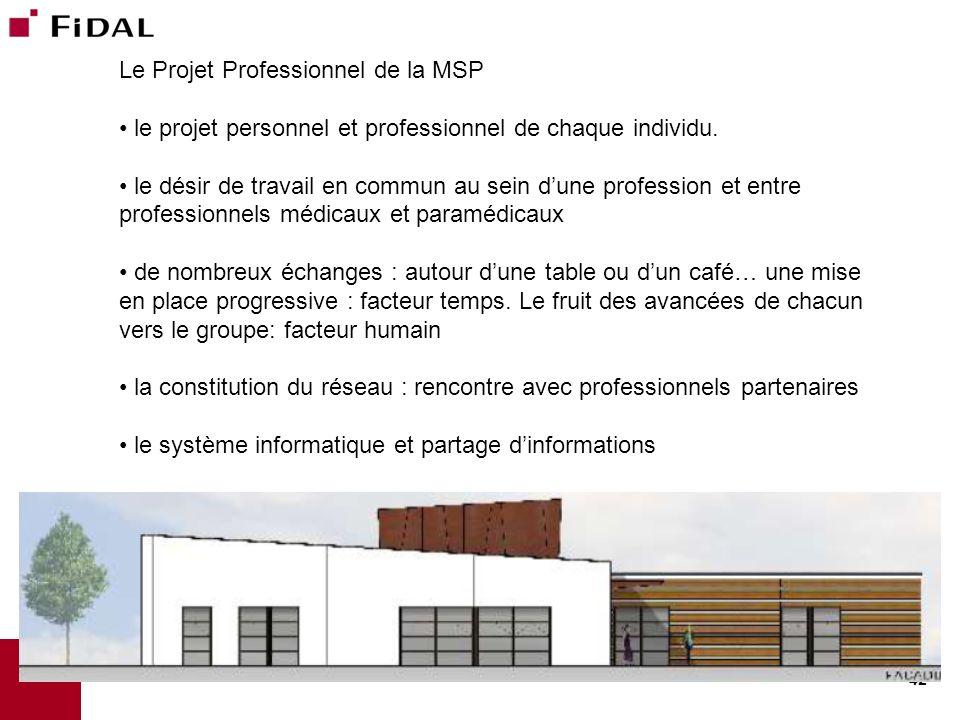 42 Le Projet Professionnel de la MSP le projet personnel et professionnel de chaque individu. le désir de travail en commun au sein dune profession et