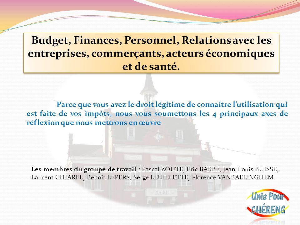 Budget, finances Nous ferons réaliser un audit complet de la gestion des derniers mandats par une société privée.