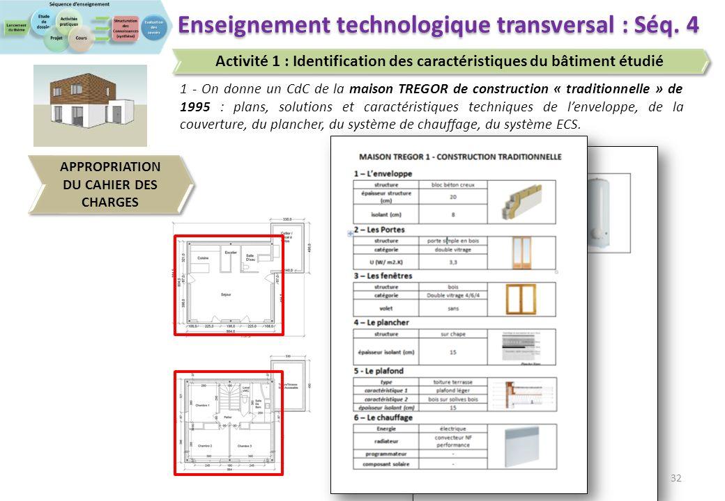 Enseigner en STI2D 32 Enseignement technologique transversal : Séq.
