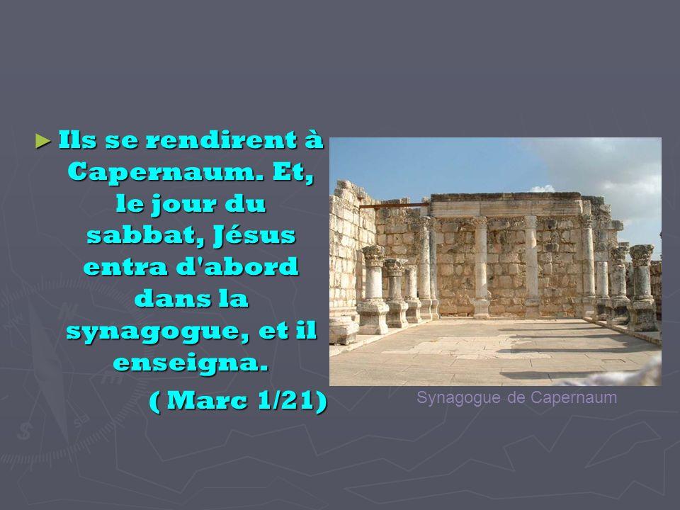 Ils se rendirent à Capernaum.