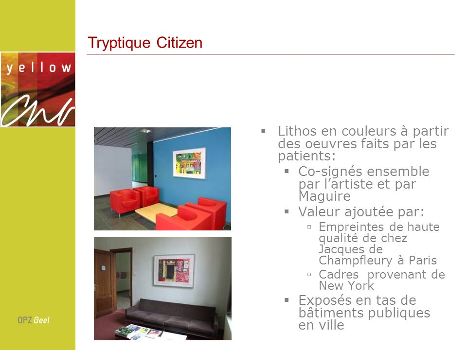 Lithos en couleurs à partir des oeuvres faits par les patients: Co-signés ensemble par lartiste et par Maguire Valeur ajoutée par: Empreintes de haute
