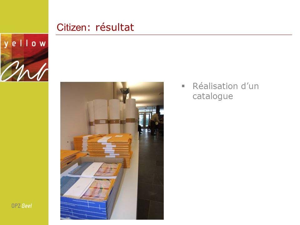 Réalisation dun catalogue Citizen : résultat