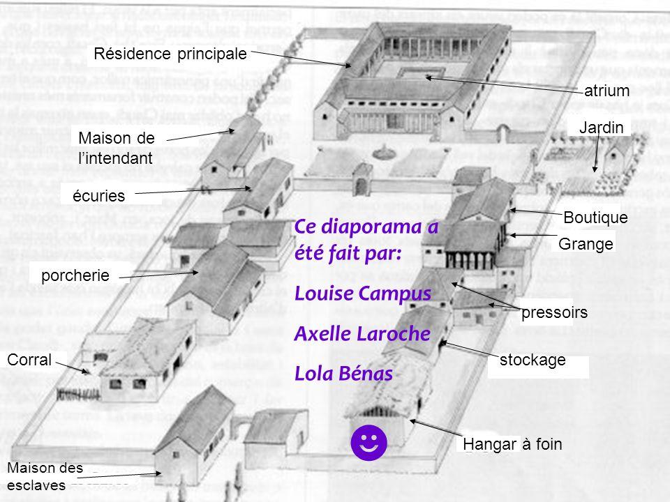 Résidence principale Maison des esclaves Ce diaporama a été fait par: Louise Campus Axelle Laroche Lola Bénas écuries porcherie atrium pressoirs Hanga