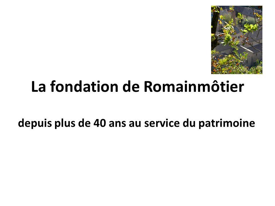 La fondation de Romainmôtier depuis plus de 40 ans au service du patrimoine