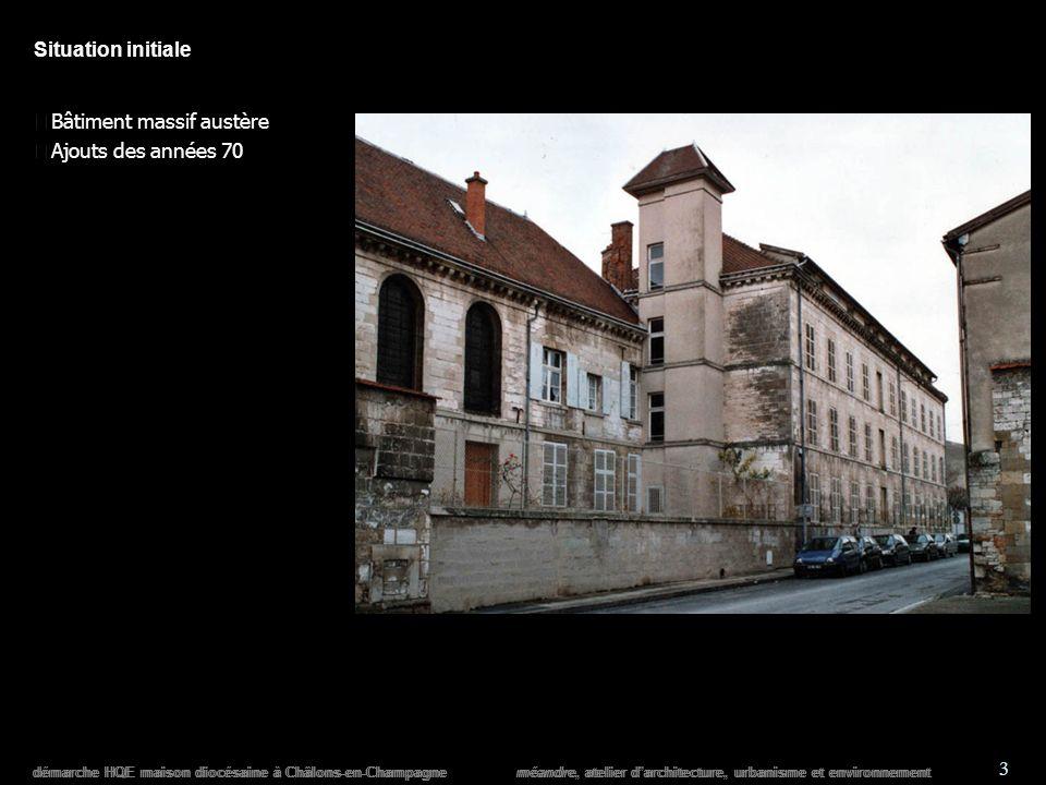 démarche HQE maison diocésaine à Châlons-en-Champagne méandre, atelier darchitecture, urbanisme et environnement 4 Concours darchitecture n Ouverture n Visibilité n Espace de rencontre