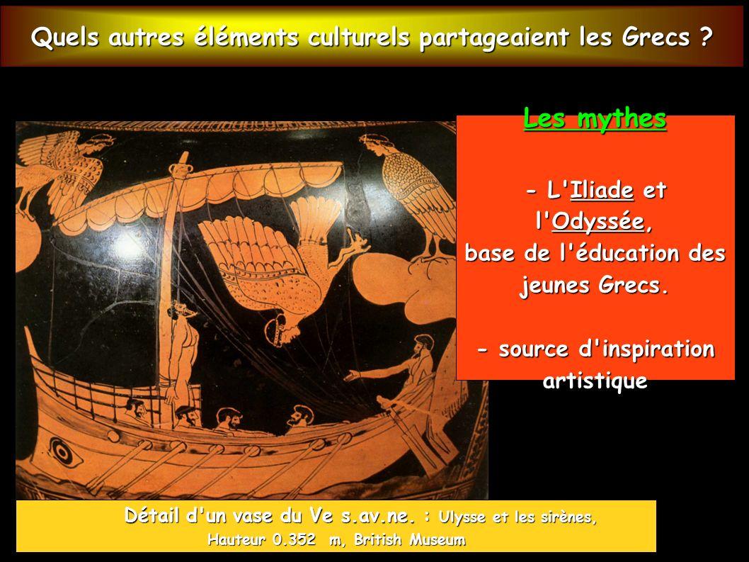 Quels autres éléments culturels partageaient les Grecs .