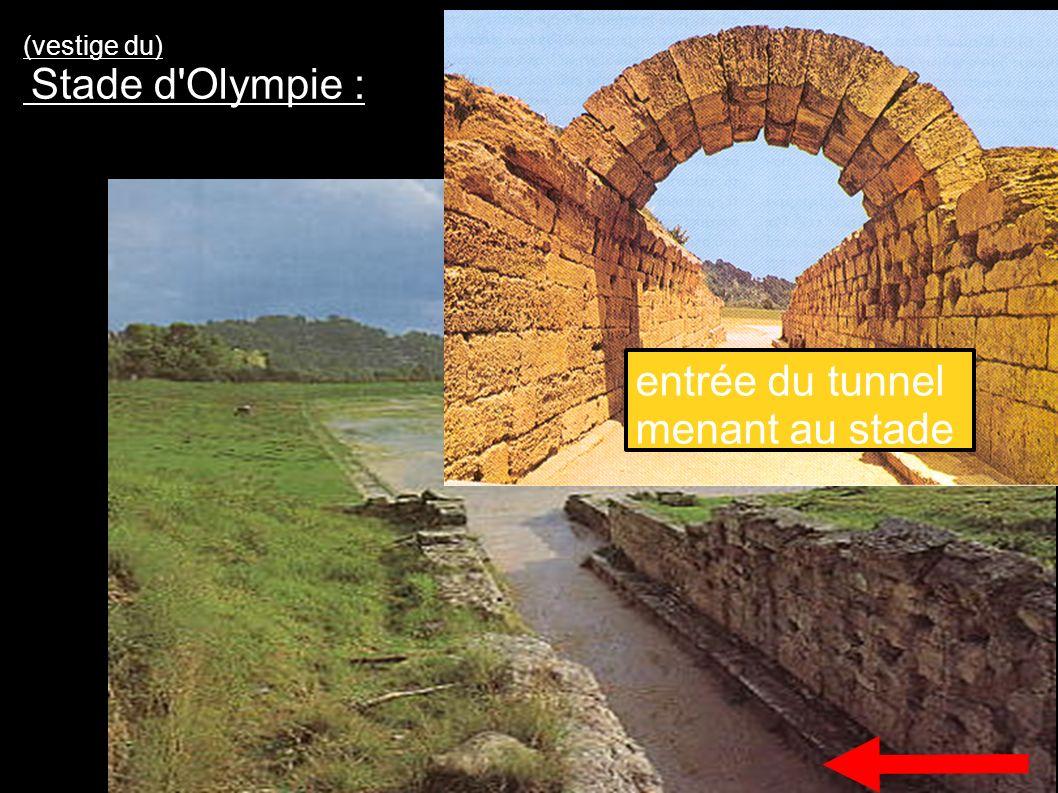 (vestige du) Stade d Olympie : entrée du tunnel menant au stade