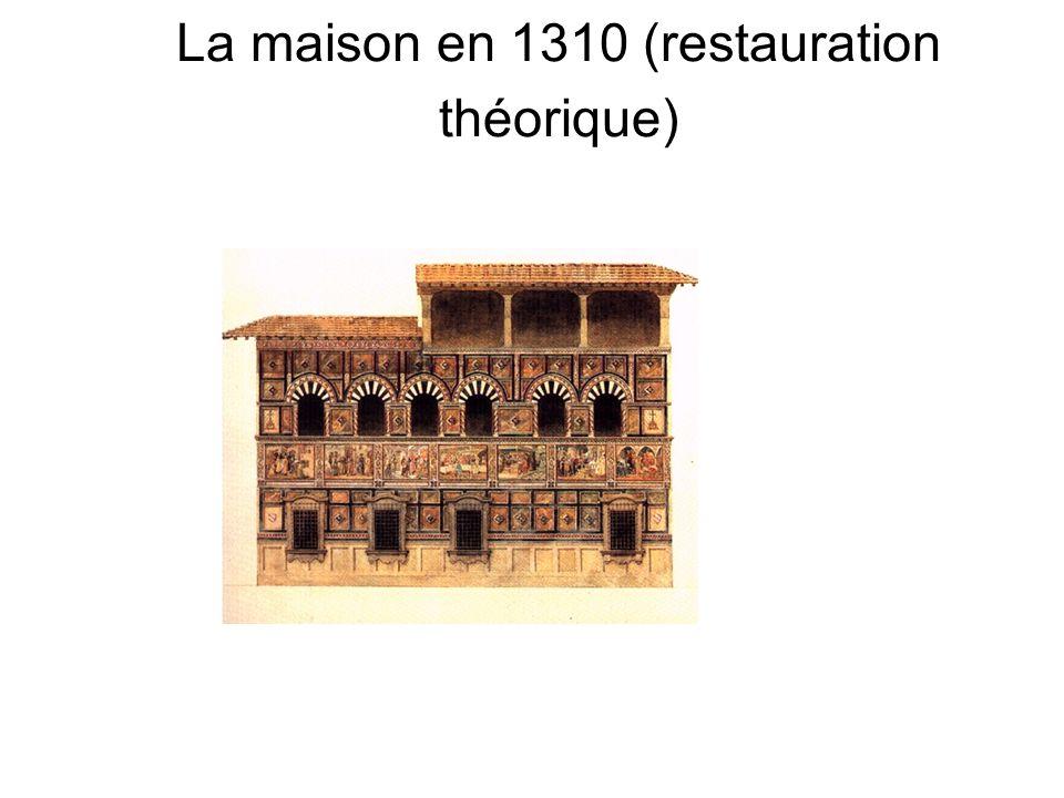 La maison en 1310 (restauration théorique)