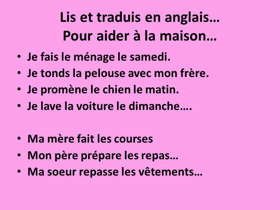 Ma maison, douce maison… Pour ma maison en France, ….