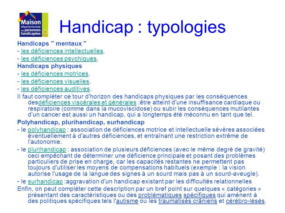 Handicap : typologies Handicaps