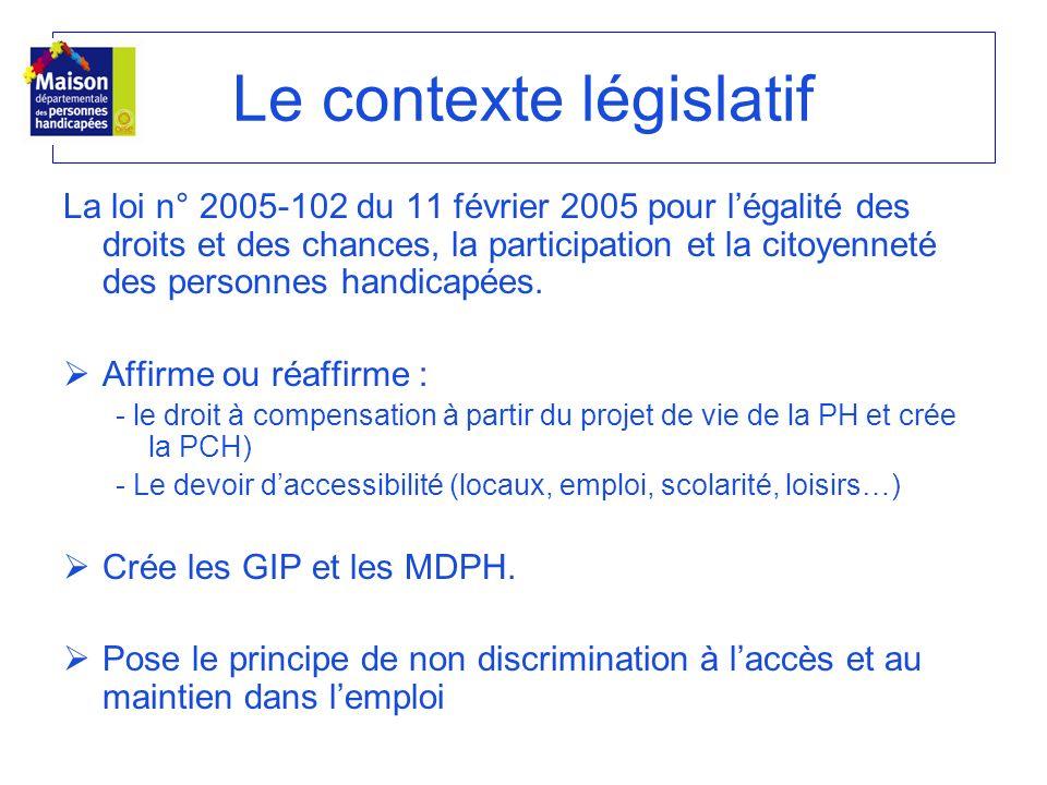 La loi n° 2005-102 du 11 février 2005 pour légalité des droits et des chances, la participation et la citoyenneté des personnes handicapées. Affirme o