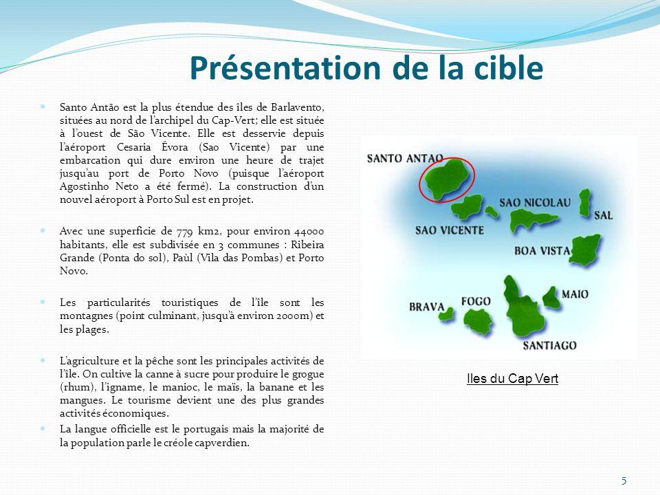 Présentation de la cible Santo Antão est la plus étendue des îles de Barlavento, situées au nord de larchipel du Cap-Vert; elle est située à louest de São Vicente.