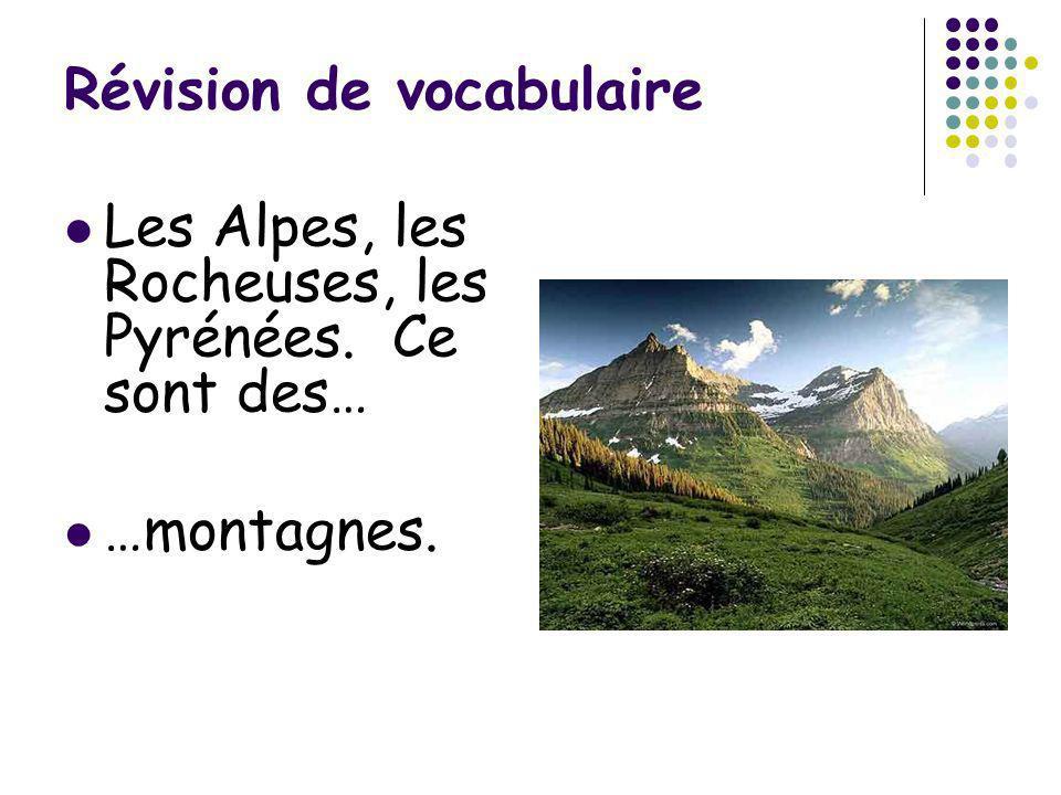 Révision de vocabulaire Vous faites un voyage en France, en Espagne, en Italie, en Grèce… Où allez-vous.