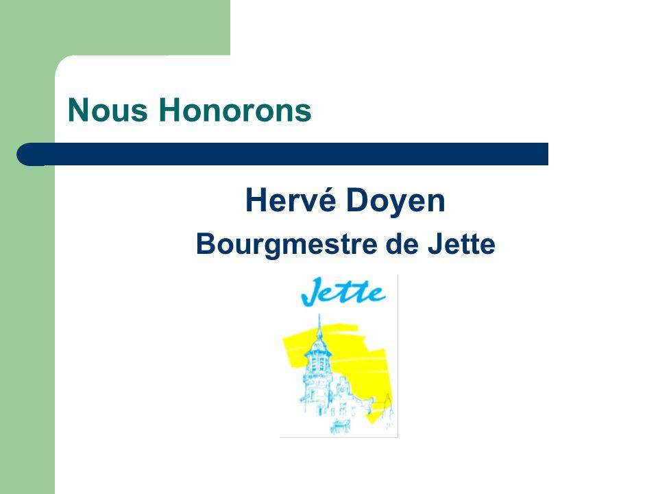 Nous Honorons Hervé Doyen Bourgmestre de Jette