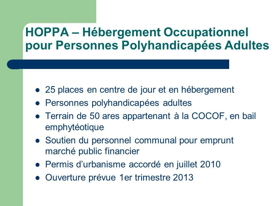 HOPPA – Hébergement Occupationnel pour Personnes Polyhandicapées Adultes 25 places en centre de jour et en hébergement Personnes polyhandicapées adult