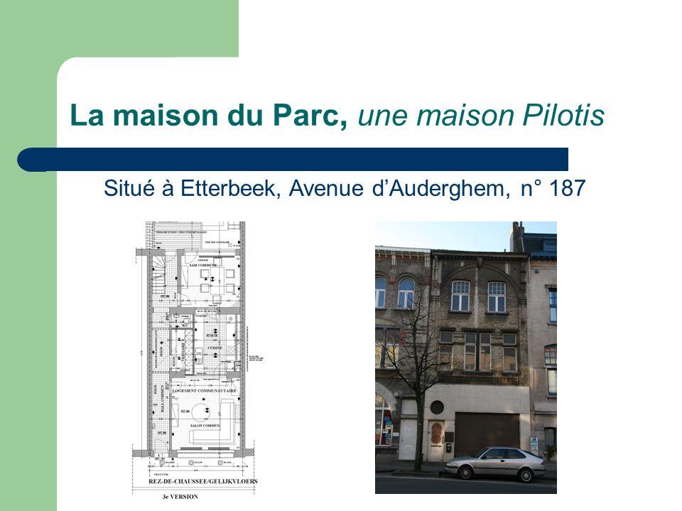 La maison du Parc, une maison Pilotis Situé à Etterbeek, Avenue dAuderghem, n° 187