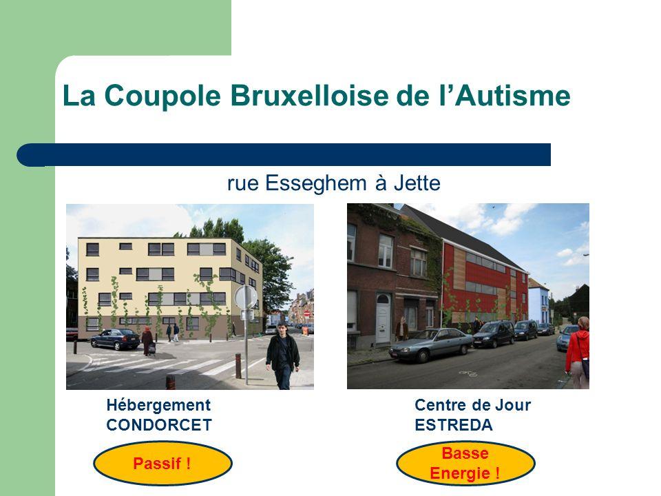 La Coupole Bruxelloise de lAutisme Centre de Jour ESTREDA Hébergement CONDORCET Passif ! Basse Energie ! rue Esseghem à Jette