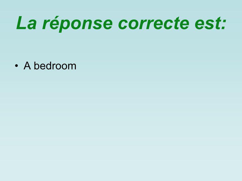 La réponse correcte est: A bedroom