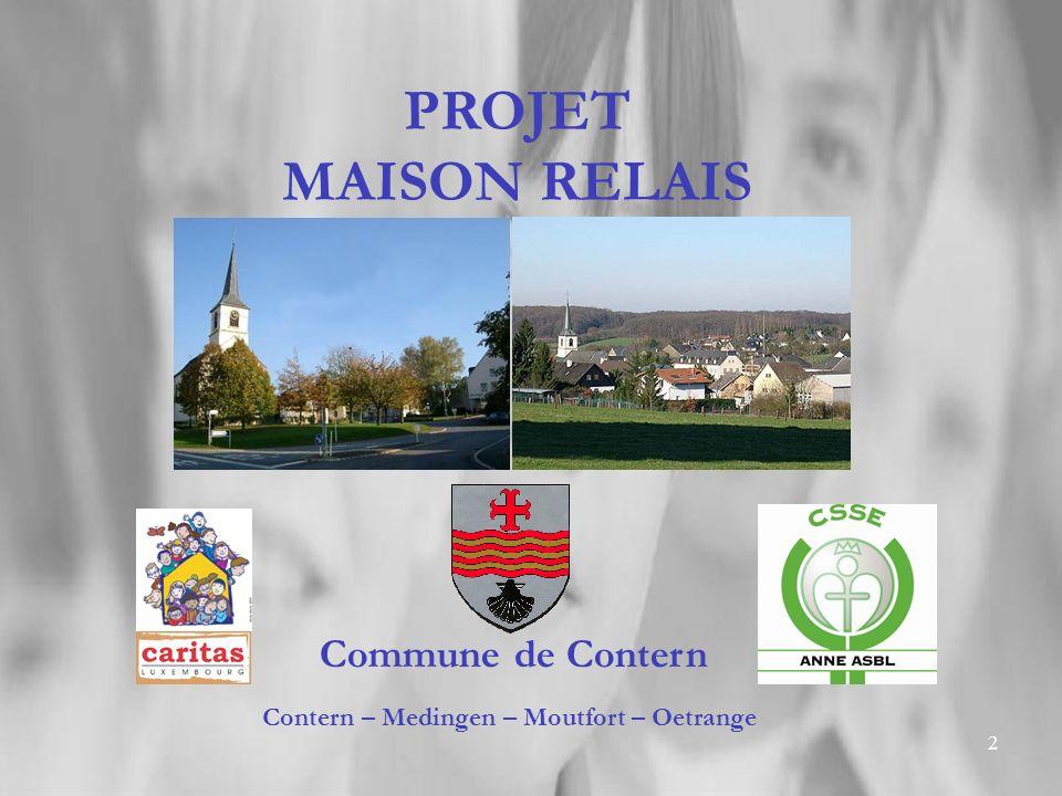 2 PROJET MAISON RELAIS Commune de Contern Contern – Medingen – Moutfort – Oetrange