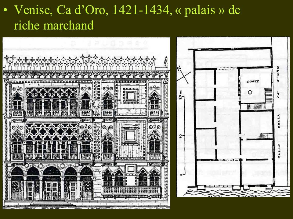 Venise, Ca dOro, 1421-1434, « palais » de riche marchand