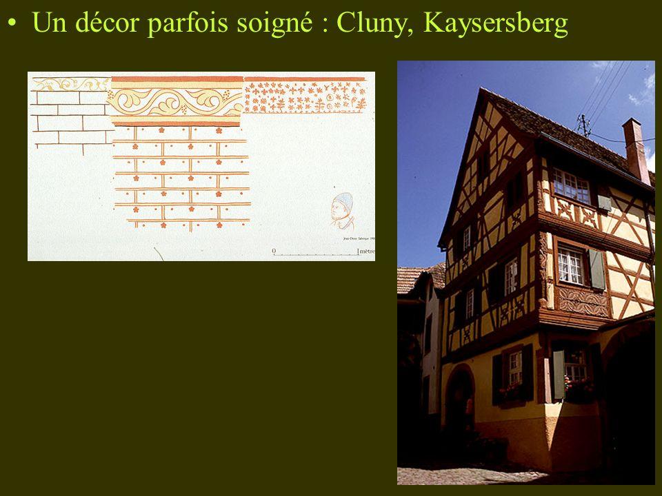 Un décor parfois soigné : Cluny, Kaysersberg