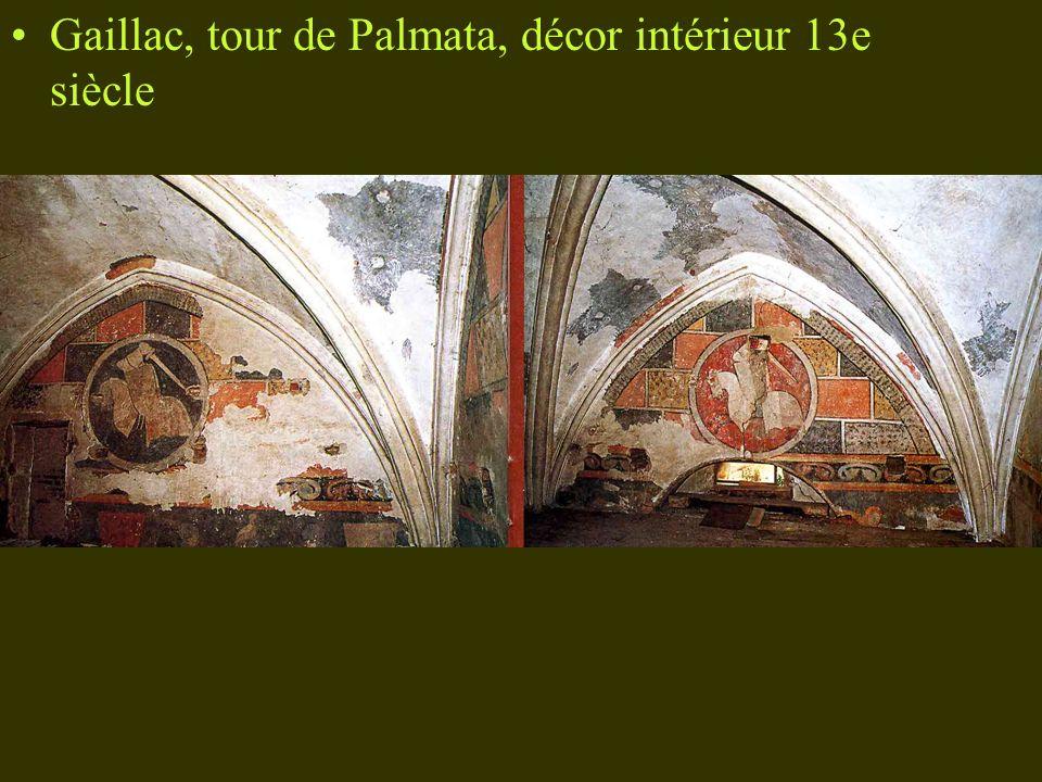 Gaillac, tour de Palmata, décor intérieur 13e siècle