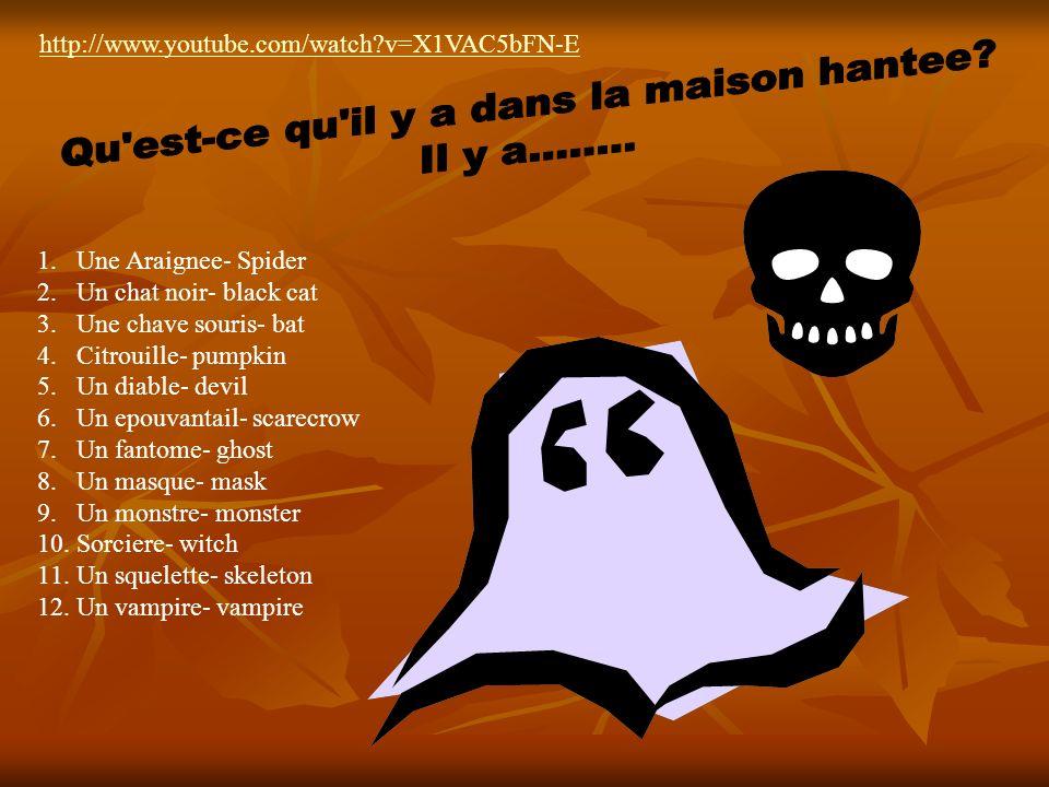 Chanson Quest-ce quil y a dans la maison hantee? Il y a…………………………..??????