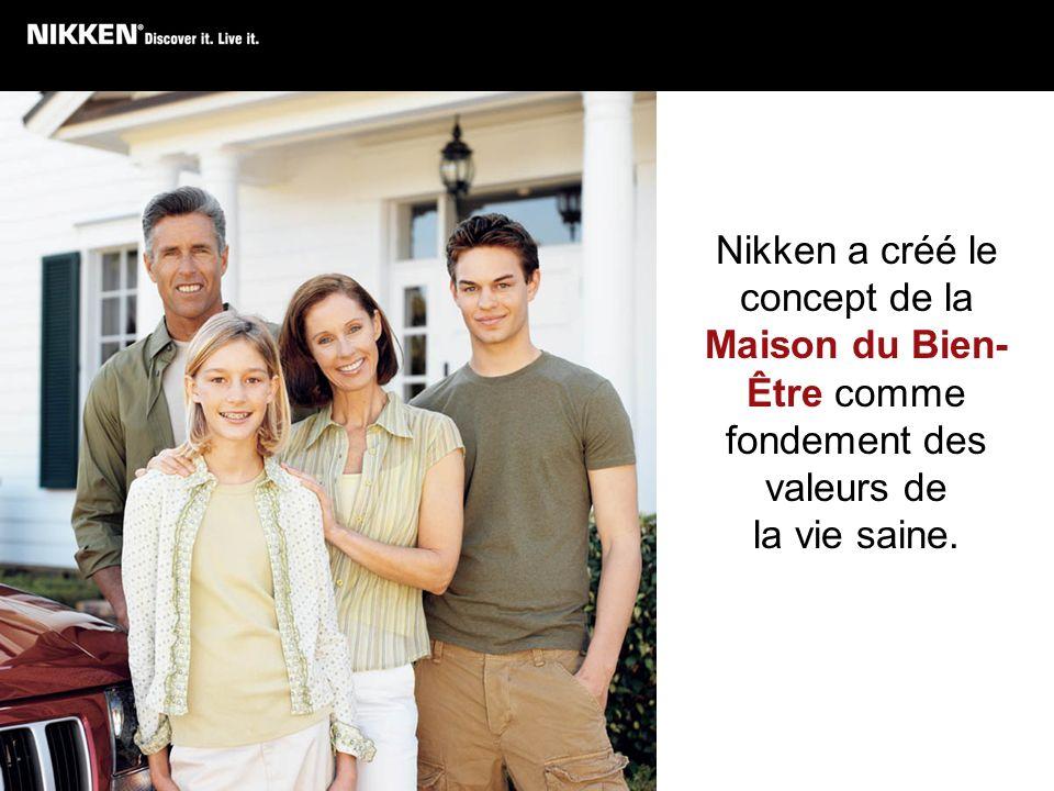 Nikken a créé le concept de la Maison du Bien- Être comme fondement des valeurs de la vie saine.