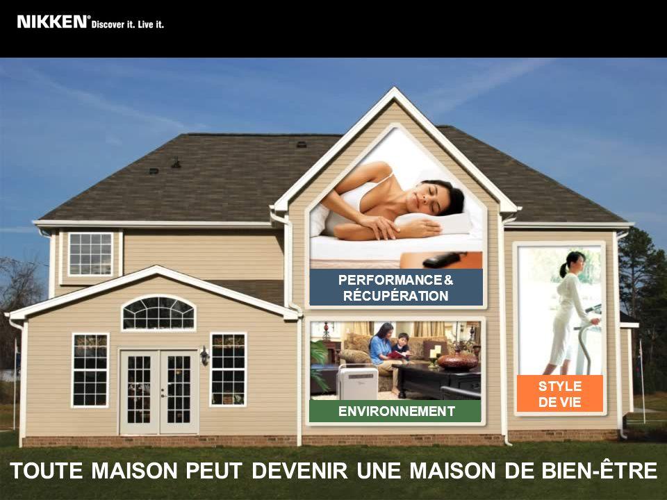 TOUTE MAISON PEUT DEVENIR UNE MAISON DE BIEN-ÊTRE STYLE DE VIE PERFORMANCE & RÉCUPÉRATION ENVIRONNEMENT