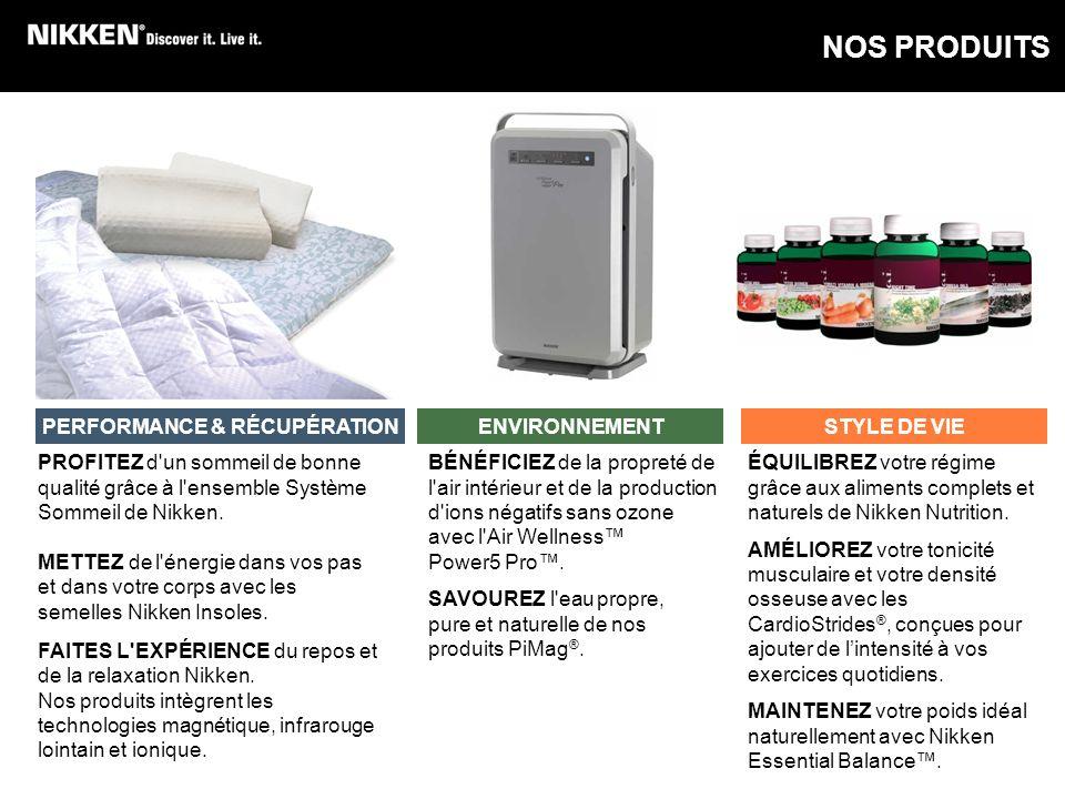 PROFITEZ d'un sommeil de bonne qualité grâce à l'ensemble Système Sommeil de Nikken. METTEZ de l'énergie dans vos pas et dans votre corps avec les sem